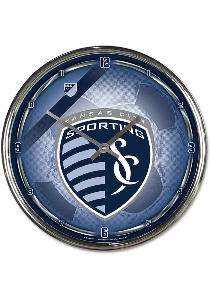 Sporting Kansas City Chrome Wall Clock - Image 1
