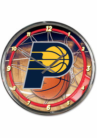 Indiana Pacers Chrome Wall Clock