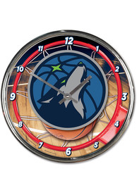 Minnesota Timberwolves Chrome Wall Clock
