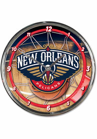 New Orleans Pelicans Chrome Wall Clock