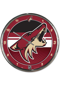Arizona Coyotes Chrome Wall Clock
