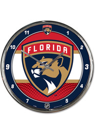 Florida Panthers Chrome Wall Clock