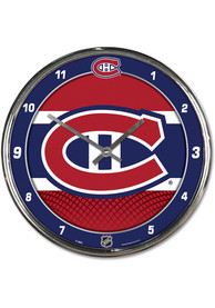 Montreal Canadiens Chrome Wall Clock