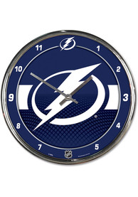 Tampa Bay Lightning Chrome Wall Clock