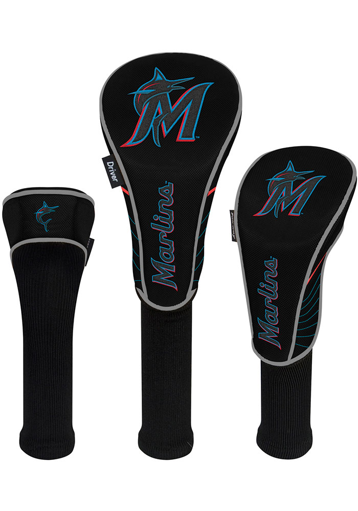 Miami Marlins 3 Pack Golf Headcover - Image 1