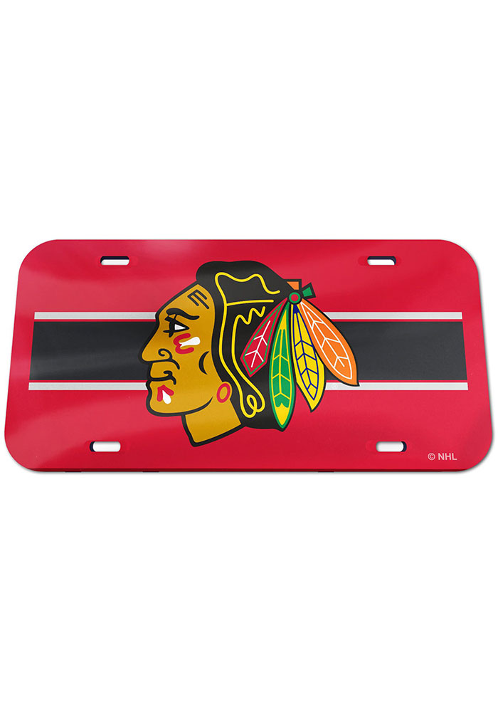 Chicago Blackhawks Team Color Acrylic Car Accessory License Plate - Image 1