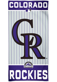 Colorado Rockies Team Color Beach Towel