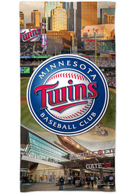 Minnesota Twins Spectra Beach Towel