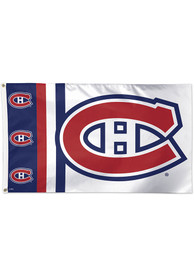 Montreal Canadiens 3x5 White Silk Screen Grommet Flag
