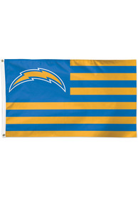 Los Angeles Chargers 3x5 American Blue Silk Screen Grommet Flag