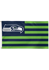Seattle Seahawks 3x5 American Blue Silk Screen Grommet Flag