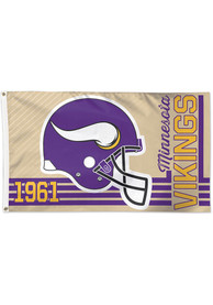 Minnesota Vikings 3x5 Retro Purple Silk Screen Grommet Flag
