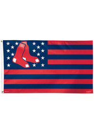 Boston Red Sox 3x5 Star Stripes Red Silk Screen Grommet Flag
