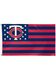 Minnesota Twins 3x5 Star Stripes Red Silk Screen Grommet Flag