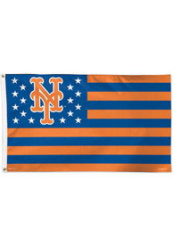 New York Mets 3x5 Star Stripes Blue Silk Screen Grommet Flag