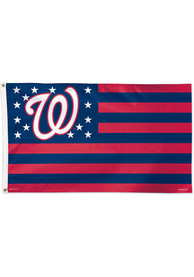 Washington Nationals 3x5 Star Stripes Red Silk Screen Grommet Flag