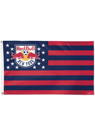 New York Red Bulls 3x5 Star Stripes Red Silk Screen Grommet Flag
