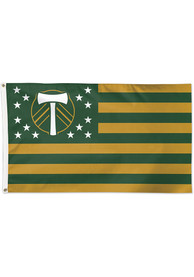 Portland Timbers 3x5 Star Stripes Green Silk Screen Grommet Flag