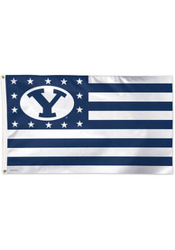 BYU Cougars 3x5 Star Stripes Blue Silk Screen Grommet Flag