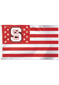 NC State Wolfpack 3x5 Star Stripes Red Silk Screen Grommet Flag