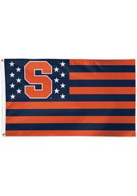 Syracuse Orange 3x5 Star Stripes Orange Silk Screen Grommet Flag
