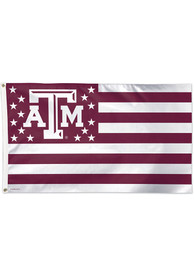 Texas A&M Aggies 3x5 Star Stripes Red Silk Screen Grommet Flag