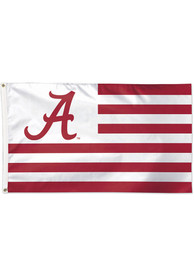 Alabama Crimson Tide 3x5 Stripe Crimson Silk Screen Grommet Flag