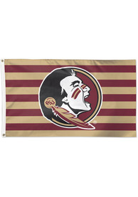 Florida State Seminoles 3x5 Stripe Red Silk Screen Grommet Flag