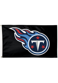 Tennessee Titans 3x5 Black Black Silk Screen Grommet Flag