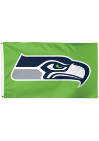 Seattle Seahawks 3x5 Green Green Silk Screen Grommet Flag