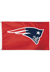 New England Patriots 3x5 Red Red Silk Screen Grommet Flag