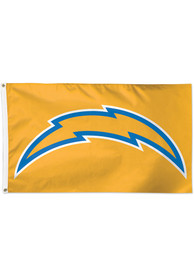 Los Angeles Chargers 3x5 Yellow Yellow Silk Screen Grommet Flag
