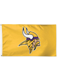 Minnesota Vikings 3x5 Yellow Yellow Silk Screen Grommet Flag