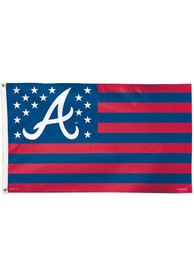 Atlanta Braves 3x5 Red Silk Screen Grommet Flag