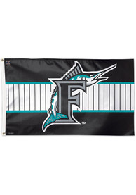 Miami Marlins 3x5 Teal Silk Screen Grommet Flag