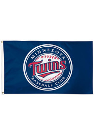 Minnesota Twins 3x5 Red Silk Screen Grommet Flag