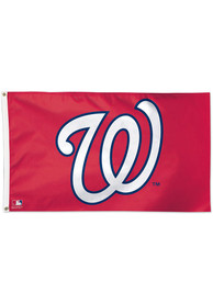 Washington Nationals 3x5 Red Silk Screen Grommet Flag