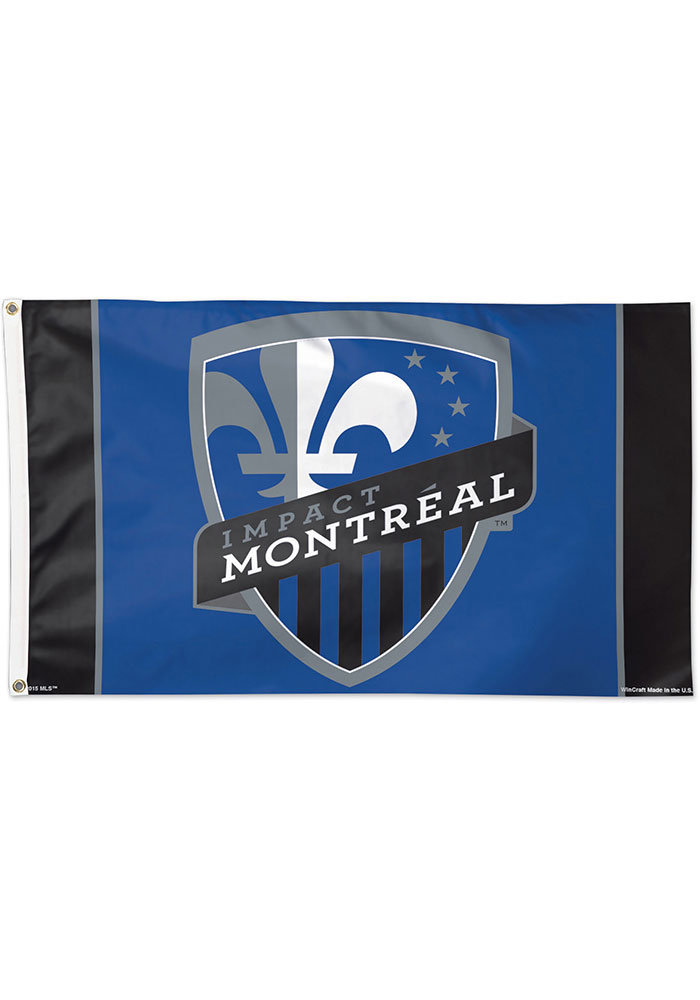 Montreal Impact 3x5 Blue Silk Screen Grommet Flag - Image 1