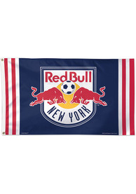 New York Red Bulls 3x5 Red Silk Screen Grommet Flag