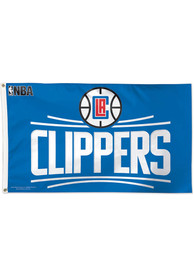 Los Angeles Clippers 3x5 Red Silk Screen Grommet Flag