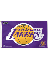 Los Angeles Lakers 3x5 Gold Silk Screen Grommet Flag