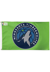 Minnesota Timberwolves 3x5 Navy Blue Silk Screen Grommet Flag