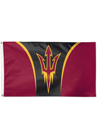Arizona State Sun Devils 3x5 Maroon Silk Screen Grommet Flag