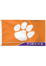 Clemson Tigers 3x5 Orange Silk Screen Grommet Flag
