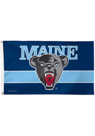 Maine Black Bears 3x5 Blue Silk Screen Grommet Flag