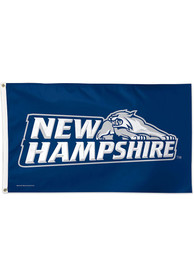 New Hampshire Wildcats 3x5 Blue Silk Screen Grommet Flag