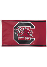 South Carolina Gamecocks 3x5 Red Silk Screen Grommet Flag