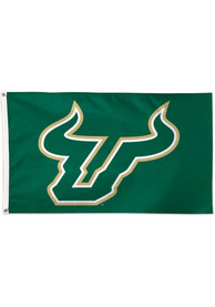 South Florida Bulls 3x5 Green Silk Screen Grommet Flag