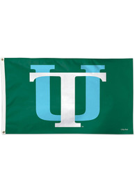 Tulane Green Wave 3x5 Green Silk Screen Grommet Flag