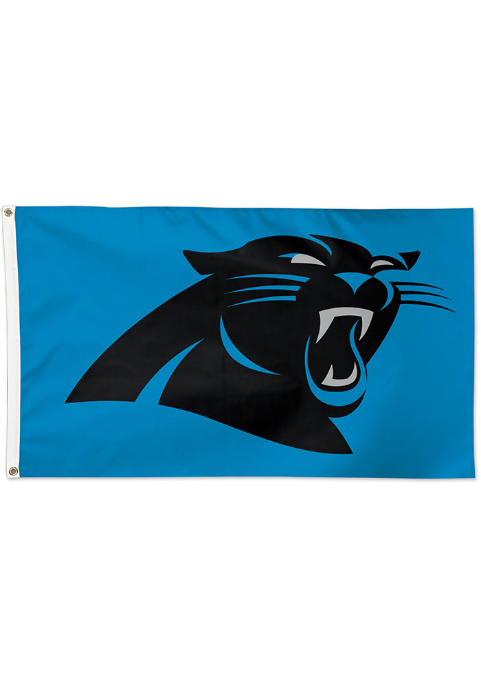 Carolina Panthers 3x5 Black Silk Screen Grommet Flag - Image 1